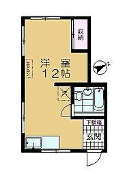 堀江アパート[201号室]の間取り