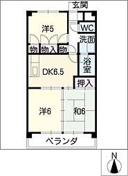 サンエステート浅井[2階]の間取り
