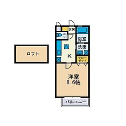 本厚木ミッドタウンiidaII[2階]の間取り