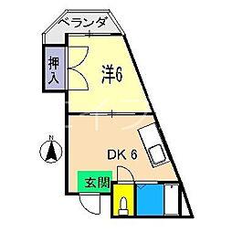 ハイツMII[2階]の間取り