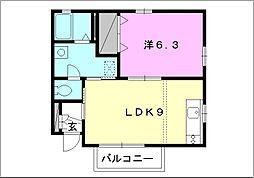 フローラル立花[102 号室号室]の間取り