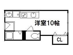 紫野ハイツ[4階]の間取り