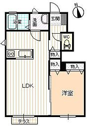メゾンMAST八山田B[101号室号室]の間取り