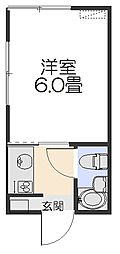 コーポヤマト[102号室]の間取り
