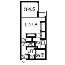 北海道札幌市中央区南三条東4丁目の賃貸マンションの間取り