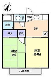 梵天塚ハイツ[2階]の間取り
