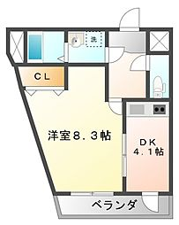イケガミマンションパート6[3階]の間取り