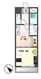 リバパレス M−stage Aoi[8階]の間取り