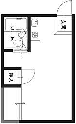 JPアパートメント枚方II[401号室]の間取り
