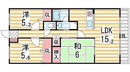 ブランチ913[2階]の間取り