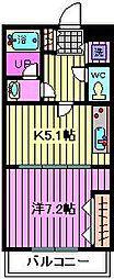 埼玉県さいたま市南区辻8丁目の賃貸アパートの間取り