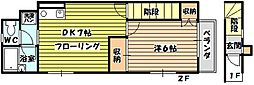 [テラスハウス] 大阪府大阪市東淀川区淡路5丁目 の賃貸【/】の間取り