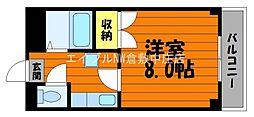 水島臨海鉄道 栄駅 3.8kmの賃貸アパート 4階1Kの間取り