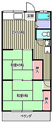 コーポ吉岡[103号室]の間取り