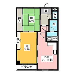 ファイビービル[2階]の間取り