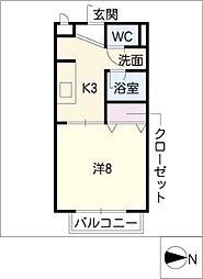 ドエル晃[2階]の間取り