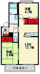 メゾンフレイア[2階]の間取り