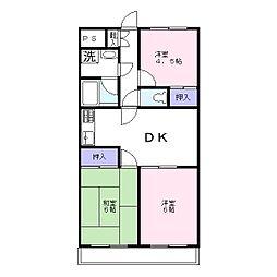 千葉県松戸市常盤平3丁目の賃貸マンションの間取り