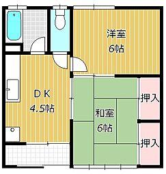 大沼荘[1階]の間取り