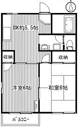 KGハイツIII[1階]の間取り