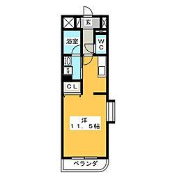 シャンベール浅井[4階]の間取り