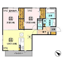 Pegasusu Okubo[1階]の間取り
