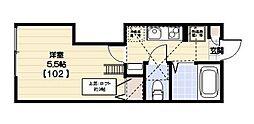 神奈川県川崎市中原区西加瀬の賃貸アパートの間取り