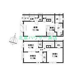[テラスハウス] 北海道札幌市東区北四十六条東2丁目 の賃貸【/】の間取り
