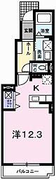メゾンカルムⅡ[1階]の間取り