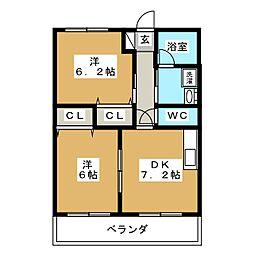 ガーデン藤岡[1階]の間取り