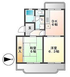 リブェールSANAGE[2階]の間取り