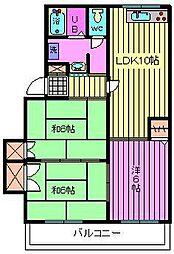 エクセレントスズキA棟[103号室]の間取り