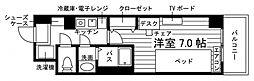 学生会館 Aile(エール)草薙駅前[食事付き] 3階1Kの間取り