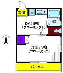 ハーモニー21[2階]の間取り