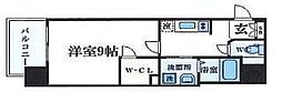 大阪府大阪市中央区南本町1丁目の賃貸マンションの間取り
