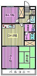 大成第2マンション[506号室]の間取り