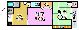 コーポ戸松[2階]の間取り