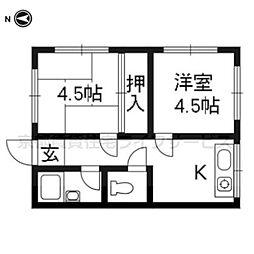 高島荘[101号室]の間取り
