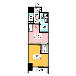 グランパークタワー[7階]の間取り