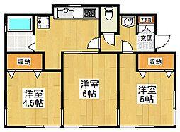 [一戸建] 東京都狛江市岩戸北1丁目 の賃貸【/】の間取り