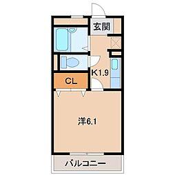 アヴェニールNISHIKI[2階]の間取り