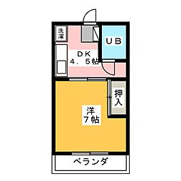 セレクトハイツB棟[3階]の間取り
