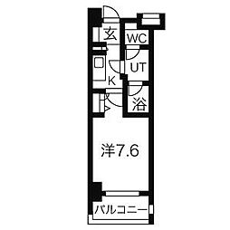 愛知県名古屋市中区千代田5の賃貸マンションの間取り