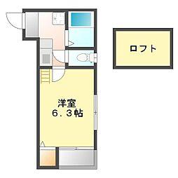 シュノンソー名古屋[201号室]の間取り