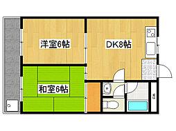 兵庫県神戸市灘区灘南通3丁目の賃貸マンションの間取り
