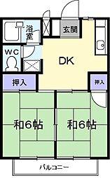 神奈川県相模原市緑区大島の賃貸アパートの間取り