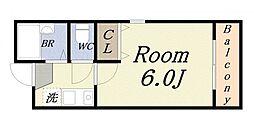 カトレアハイツ[3階]の間取り