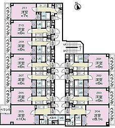 エクステージ[2階]の間取り