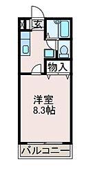 サニーサイドマンション[3階]の間取り