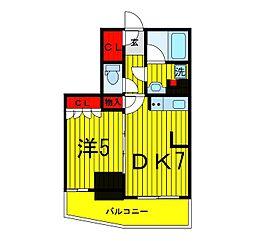 パークアクシス上野松が谷[9階]の間取り